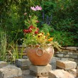 Garden patio — Stock Photo