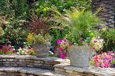 Patio giardino mattone — Foto Stock