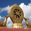 Tibetan holy symbol - Stock Photo