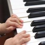 Electric piano education — Stock Photo