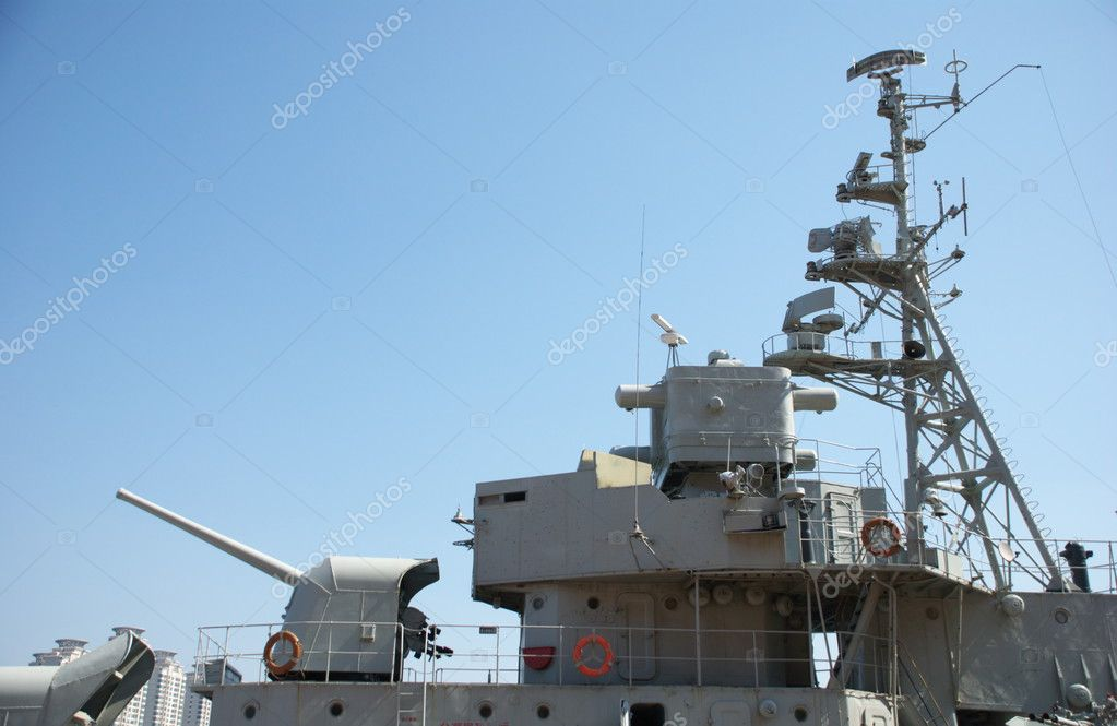 A shot of a modern warship  Stock Photo #2646569