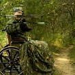 Disabled hunter — Stock Photo