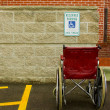 Wheelchair and handicap parking — Stock Photo