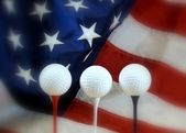 Patriotic golf — Stock Photo