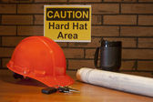 Hardhats required — 图库照片