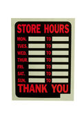 Business hours sign — Stock Photo