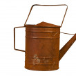 Rusty watering can isolated — Stock Photo