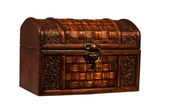 Small treasure chest isolated — Stockfoto