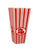 Empty popcorn box isolated on white — Stock Photo