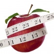 Apple and Tape Measure — ストック写真