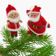 Christmas still-life doll with Santa — Stockfoto