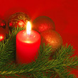 Chrismas still life with red candles — Stock Photo #2030160