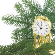 Stock Photo: Christmas decoration with watch