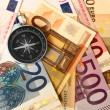 Stock Photo: Currency and compass
