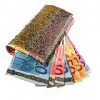 Purse  wallet with currency euro — Stock Photo