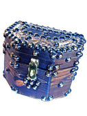 TREASURE CHEST wooden small box — Stock Photo