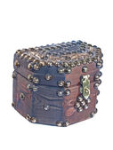 TREASURE CHEST wooden small box with je — Stock Photo