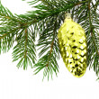 Christmas fir-tree with  decoration — Stock Photo