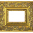 Stock Photo: Golden frame isolated