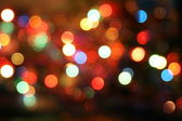 Christmas bokeh lighteffects — Stock Photo