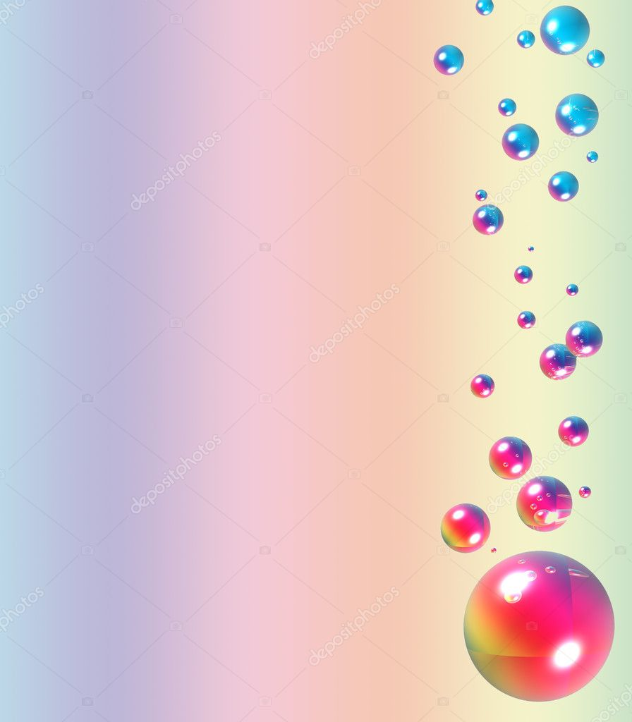 Abstract background with balls  Stock Photo #2066048