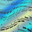 Musical note as background - Stock Photo
