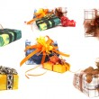 Set of various christmas presents - Foto Stock