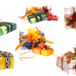 Stock Photo: Set of various christmas presents