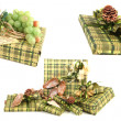 Stock Photo: Green christmas presents