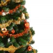 Christmas tree with copy space — Stock Photo
