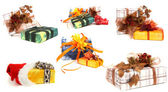 Set of various christmas presents — Stock Photo