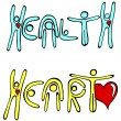 Heart and Health — Vettoriali Stock