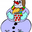 Snowman with flu — Image vectorielle