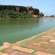 lake at badami — Stock Photo