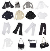 Clothes, isolated on white,with clipping — Stock Photo