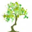 Royalty-Free Stock 矢量图片: Concept tree - blots, spring