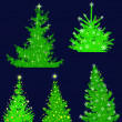 Royalty-Free Stock Vector Image: Christmas tree, set