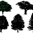 Royalty-Free Stock Immagine Vettoriale: Trees - vector set