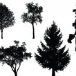 Trees - vector set — Stock vektor