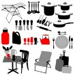 Stock Vector: Kitchen objects, set