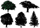 Trees - vector set — Stock Vector