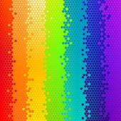 Vector fondo abstracto, arco iris — Vector de stock