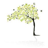 Abstrait arbre à fleurs — Vecteur