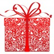Stylized gift - vector - Stock Vector