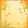 Autumn background with a space for a tex - Stock Vector