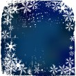 Winter background, snowflakes - vector i — Stock Vector