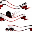 Stock vektor: Halloween horizontal banners, set