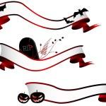 Halloween horizontal banners, set — Stock Vector