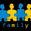 Illustration of family; concept of harmo — Imagen vectorial