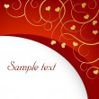 Valentine background with a space for yo - Stock Vector